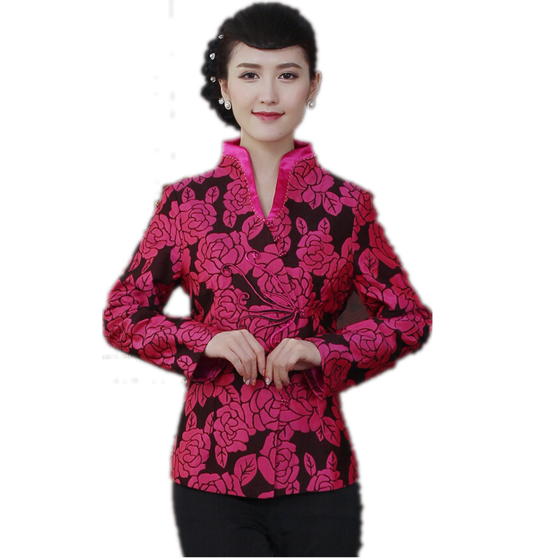 9a5e31fd0 New Arrival Hot Pink Chinese Tradition Style Jackets Elegant Slim Jacket  Single Button Coat Tang Suit Tops Size M L XL XXL XXXL