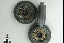 Бесплатная доставка миниатюрный мяч Подшипники 625zz 5*24*7 мм POM пластиковые колеса ролика нейлон типа y шкив