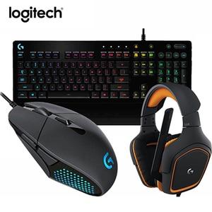 Logitech G213 Gaming Mechanical keyboard teclado gamer klavye and Logitech G231 Prodigy Headset ,G302 Mouse Wired Game raton
