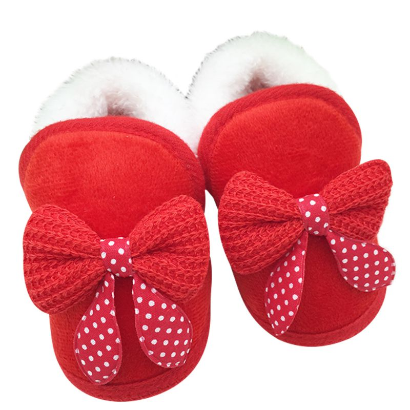 afb682b3c Baby Girls Shoes Toddler First Walker Warm Winter Boots Soft Sole ...