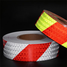 1pcs 5cm*300cm Reflective Bicycle Stickers Adhesive Tape for Bike Safety White Red Yellow Blue Accessories