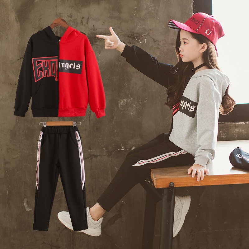 Girls Pant Sets 2019 Spring Two piece Kids Sports Leisure Suit 10 12 years Teenage Girls Clothing Children Outerwear