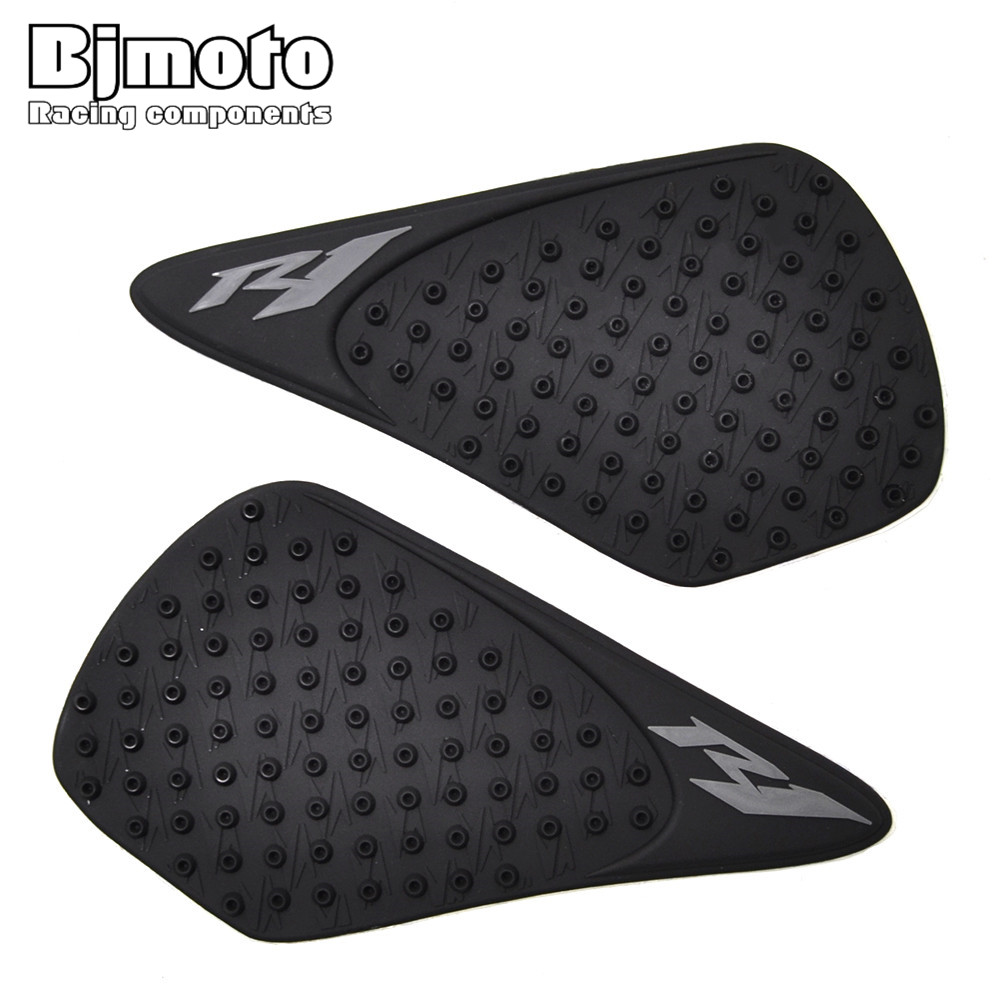 Fast Deliver Tpp01-r1/07-bk Motorcycle Rubber Tank Traction Pad Knee Grip Protector Anti Slip Sticker For Yamaha Yzf1000 R1 2007-2008 To Invigorate Health Effectively Automobiles & Motorcycles