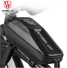 WHEEL UP Top Tube Bike Bag Bicycle Pannier Front Frame Bags Hard Shell EVA Cycling Tools Pouch Waterproof MTB Road Stor