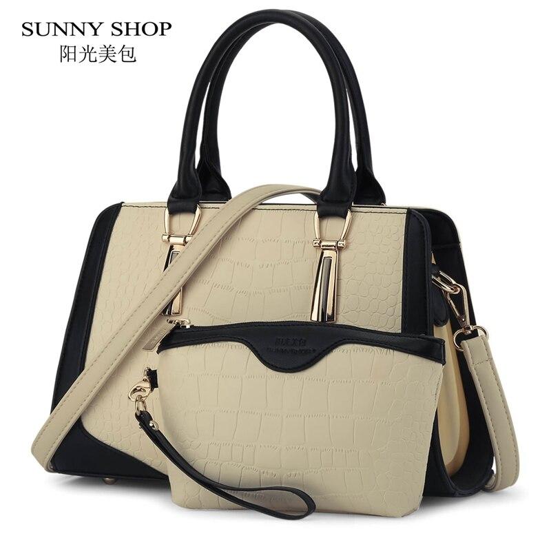 Sunny shop nuevo bolso de las mujeres del patrón del cocodrilo mujeres messenger