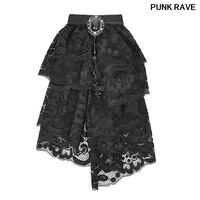 Gothic Victorian Jabot Ruffle Neck man Tie Steampunk Vintage Pin up lace gemstone Acc Punk Rave S173