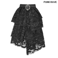 Gothic Victorian Jabot Ruffle Neck man Tie Steampunk Vintage Pin up lace gemstone Acc Punk Rave S173
