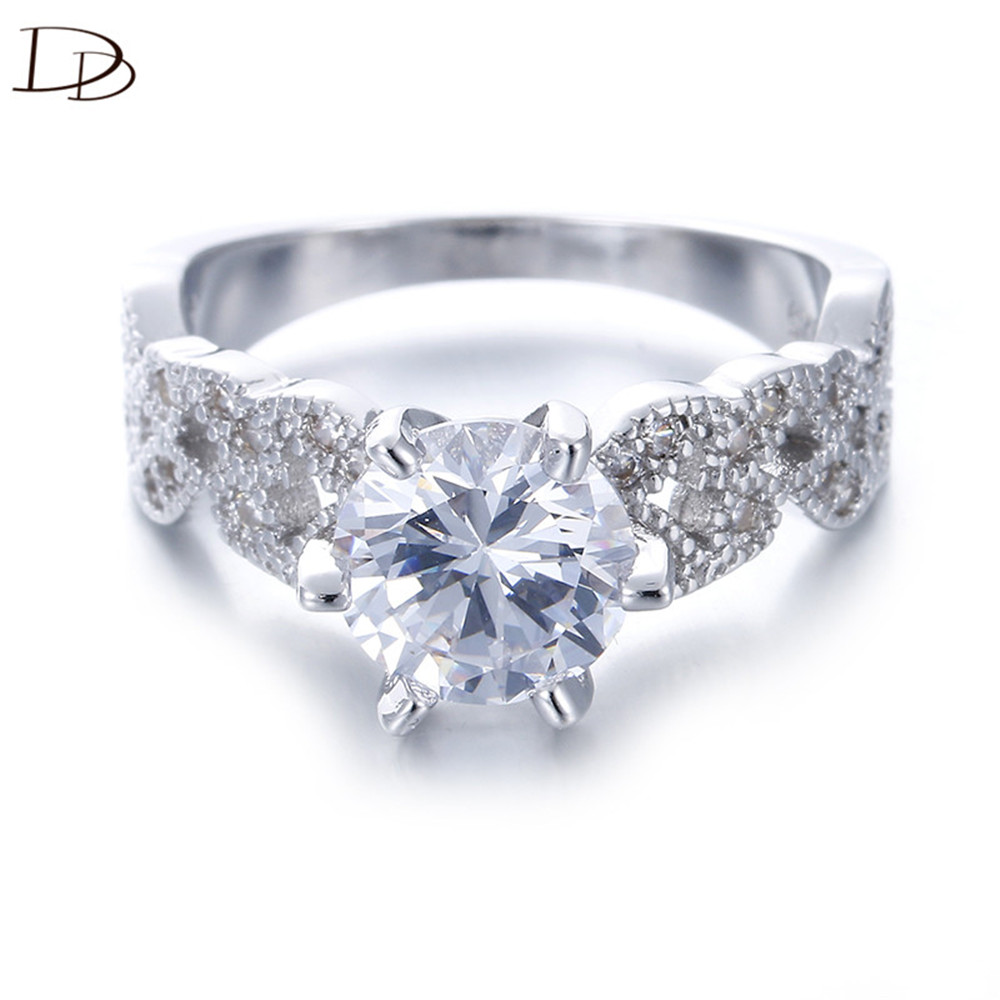 15 Carat Aaa Zircon Jewelry Wedding Engagement Rings For Women Vintage 925  Sterling Silver Anel Crystal Bague Leaves Dd097