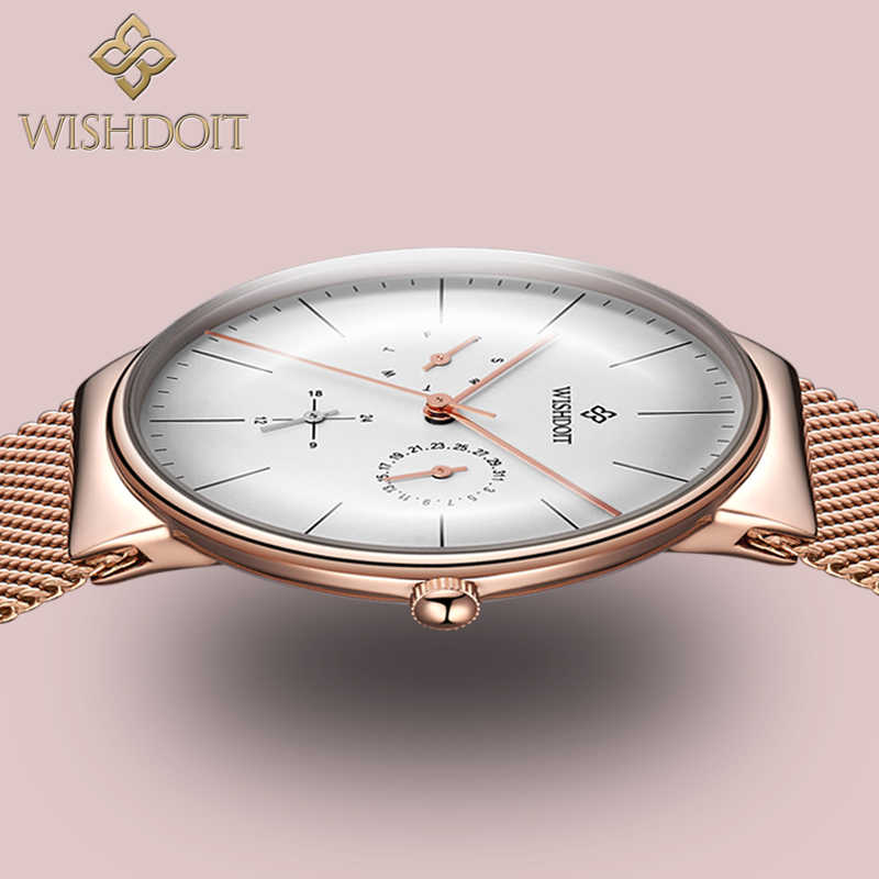 WISHDOIT Top Brand Luxury Women Watches Ladies Fashion Elegant Analog Quartz Watch Women Waterproof Gift Clock Relogio Feminino