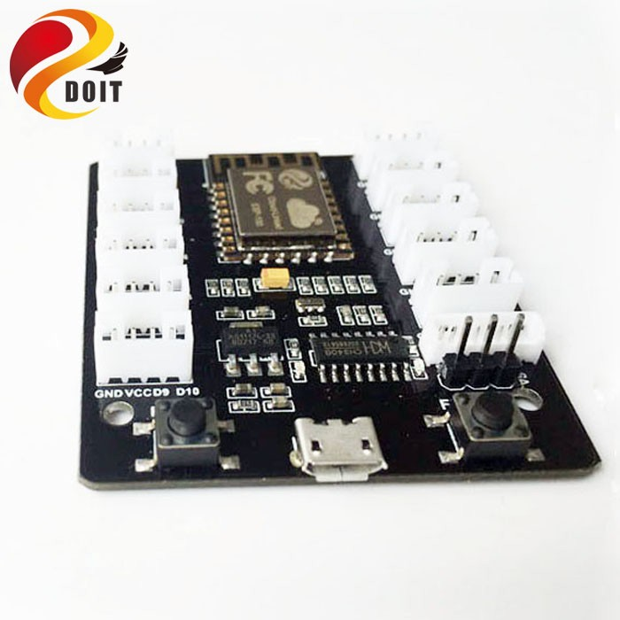 DOIT Grove Kit Sensor Shield IoT Extension Board ESP8266 WiFi Grove Board Kit PMS5003 WiFi Sensor Remote Control Tank