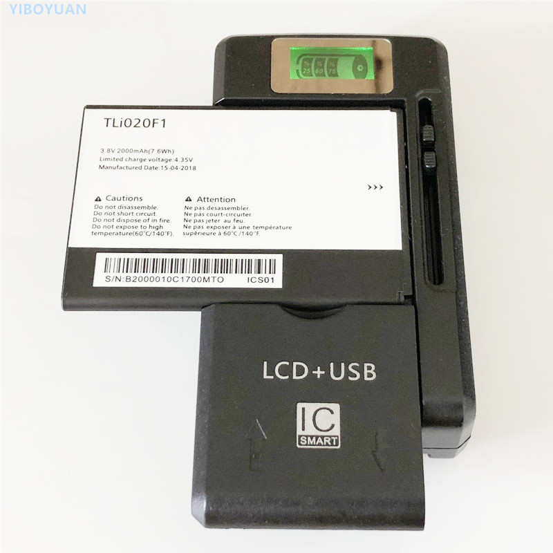 3.8V 2000mAh TLi020F1 For Alcatel U5 HD  5047D 5047I  5047U  5047Y Battery + YIBOYUAN SS-8 Universal Charger