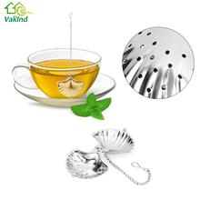 Stainless Steel Cute Shell Shape Tea Strainer Spice Herbal Leaf Infuser Filter Diffuser Tools For Tea & Coffee Drinkware