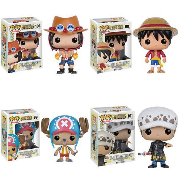 Anime one piece pvc action figure 10cm Monkey D Luffy Portgas D Ace Tony Tony Chopper Trafalgar Law action figure doll model toy