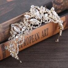 Baroque Crown 2019 New Crystal Bridal Tiara Wedding Accessories Jewelry Hair Headwear