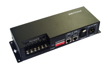wholesale DC 12-24V 27 channel 9 group dmx 512 led decoder led RGB controller