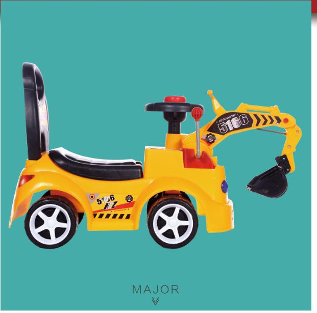 Enfants scooter avec musique Pelle wagon tourelle camion jouet de s'asseoir et rouler quatre roue Voitures En Plein Air Intérieur Dérive Activité Walker