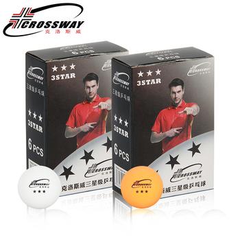 2019 nowy Crossway profesjonalny stół do piłka tenisowa trzygwiazdkowy poziom Ping pong 6 pakowania konkurencji szkolenia Ping-pong żółty tanie i dobre opinie Trzy-poziom gwiazdą 1104