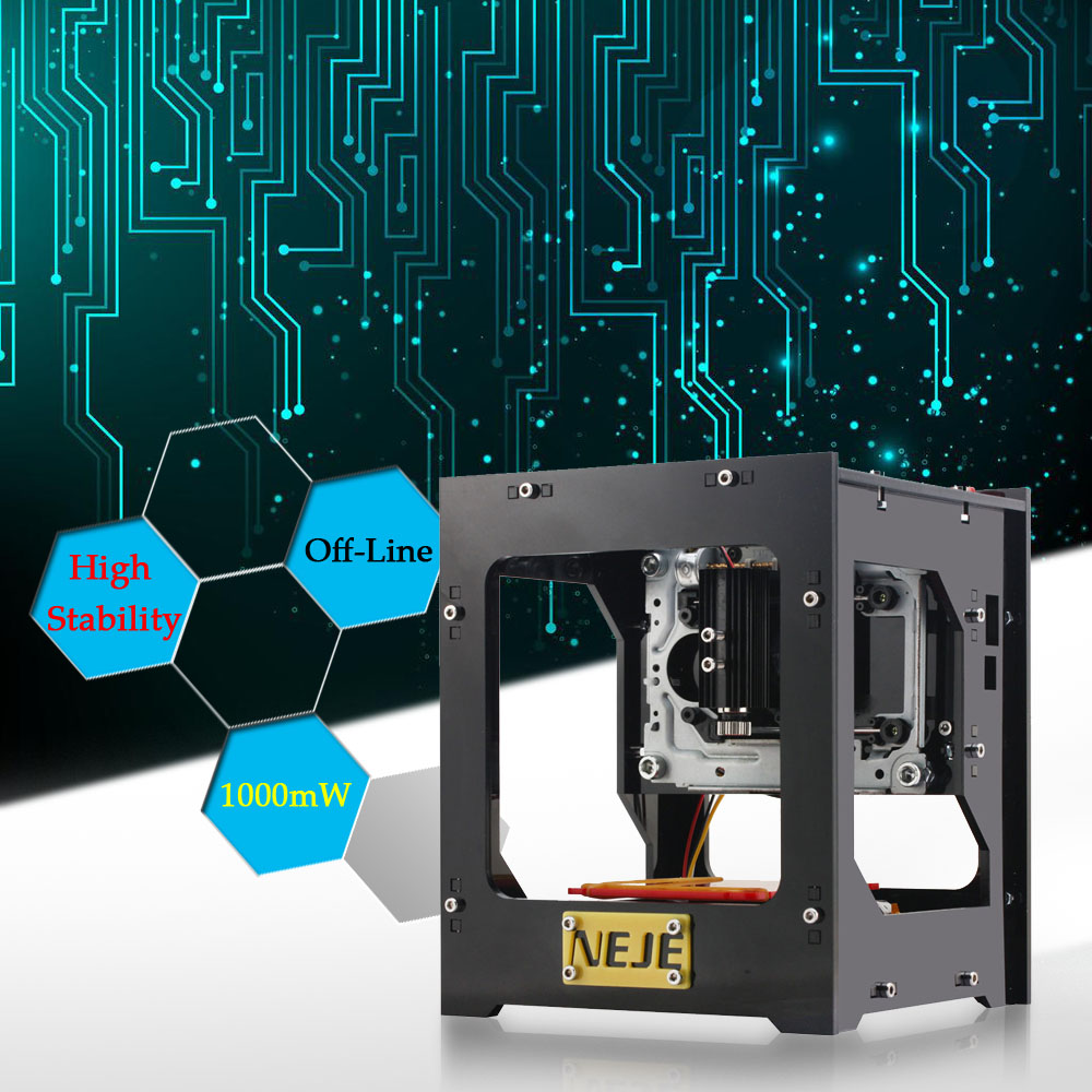 NEJE 1000mW CNC Crouter DIY Laser Cutter Mini CNC Engraving Machine DIY Print Laser Engraver High Speed with Protective Glasses