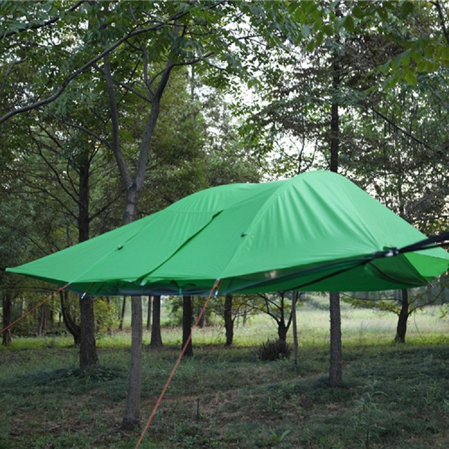 Double Layer Hanging Tree Tent Triangle Suspension Tent Hanging Hammock C&ing Hiking Canopy for 2 Persons : hammock tent 2 person - memphite.com