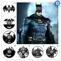 Home Living Super Hero Batman Design 3D Vinyl Record Wall   Clock   12 inch Decorative Time   Clock