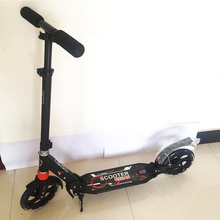 T-Style Scooters Sturdy Lightweight Height Adjustable Aluminum Alloy Scooters Foldable Adult Child Stepper Foot Scooters FJ0085