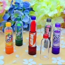 Rainbow Color changeable cute Lip Balm cola Lipstick Wax Cup Lip Smacker Baby Lips Balm Brand Makeup Fullips Colour Magic