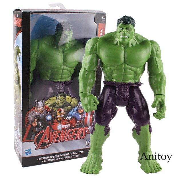 Figura Titan hero Série Hulk Marvel Avengers Super hero Toy PVC Action Figure Modelo Toy Dolls Figura Hulk