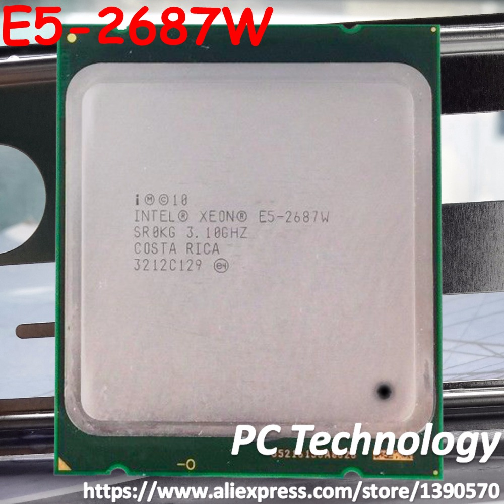 E5 2687W Original Intel Xeon E5 2687W E5 2687W 3 10GHz 8 Core 20M DDR3 1600MHz