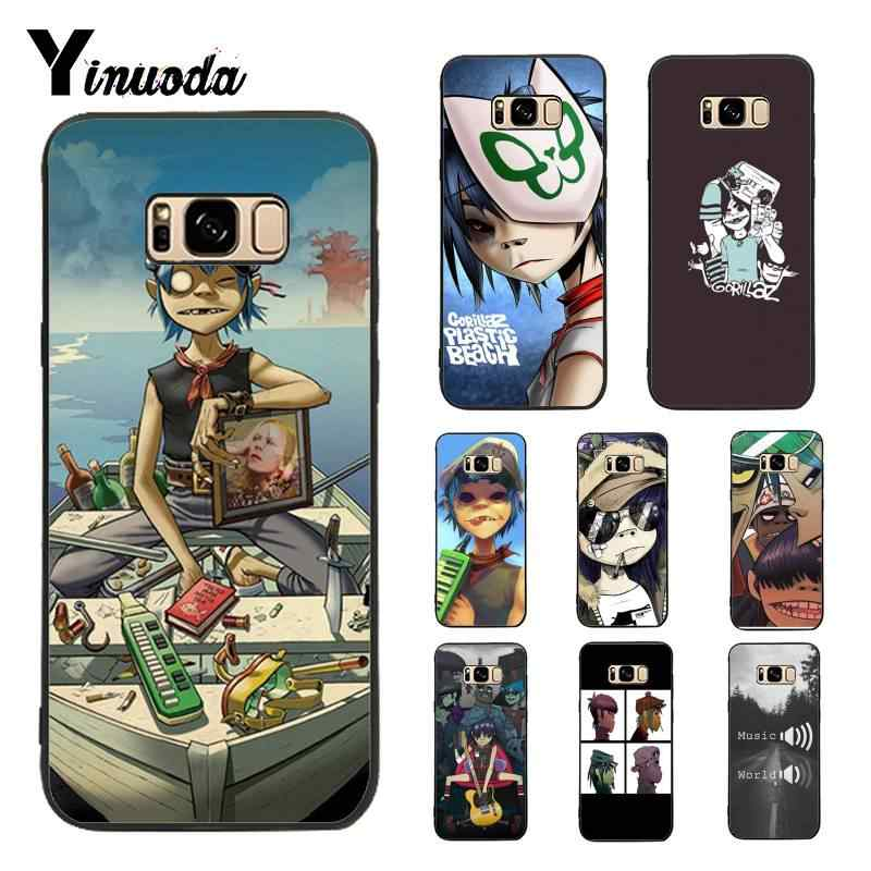 Yinuoda מקרה עבור גלקסי S9 Gorillaz סירת Illust מוסיקה חדש הדפסת טלפון אביזרי מקרה לסמסונג גלקסי S4 S5 S6 s7 S8 S9