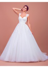 MANSA Elegant Lace Tulle wedding dress turkey Modesr Sweetheart Ball Gown Women Weddin Dresses Vestido De Casamento 2015