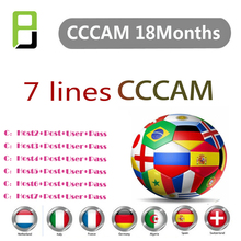 Best quality Europe Cccam cline for 1 Year Portugal Spain Germany Poland cccam server 7 lines Full HD DVB-S2 satellite receiver 1 year europe cccam server hd kii pro dvb t2 dvb t2 tuner android tv box full 1080p italy spain arabic cccam cline media player