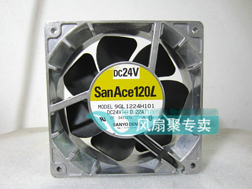 Original SANYO 9GL1224H101 12cm 12038 24V 0.22A aluminum frame cooling fan qqv6 aluminum alloy 11 blade cooling fan for graphics card silver 12cm