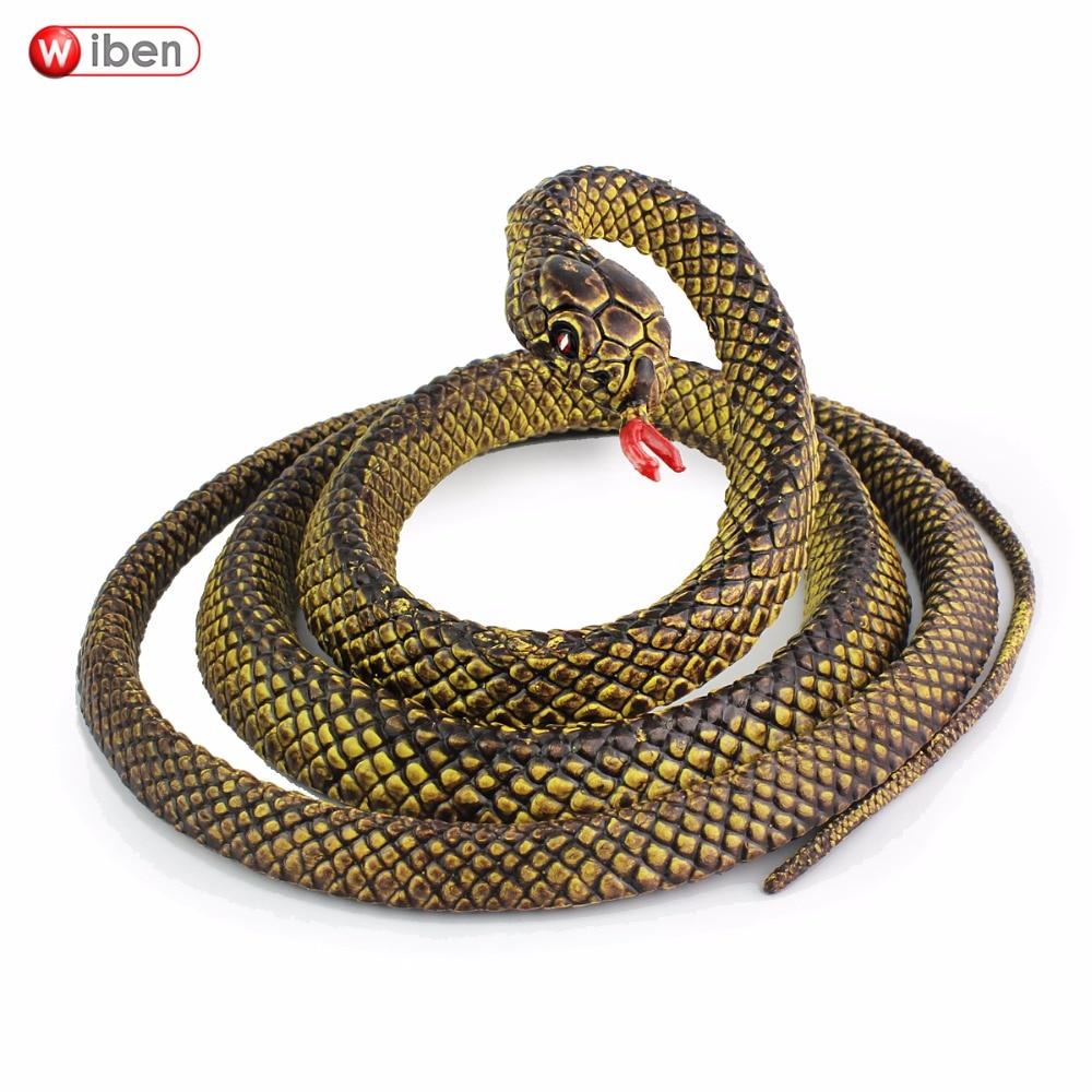 Wiben Halloween realista suave serpiente de goma falso Animal modelo 145 cm jardín accesorios broma regalo Gags y chistes prácticos