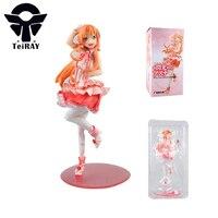 Sword Art Online 2 Asuna Sao Sexy Pink Figurines 22CM Japan Anime Nendoroid Pvc Action Figures Kids Hot toys for Children Girls