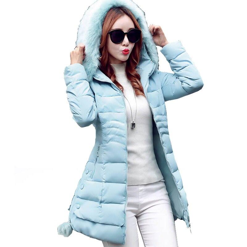 Fashion Women Winter Parka Jacket Korean Slim Faux Fur Collar Zipper Buttons Elemant Warm Quilted Jackets Coat Winterjas Vrouwen geoff johns green lantern by geoff johns omnibus volume 2