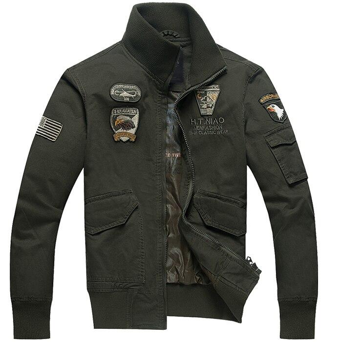 Broderie hommes manteau vestes Allemand militaire uniforme veste Armée Militaire Air Force 1 veste 4XL Mode broderie vestes
