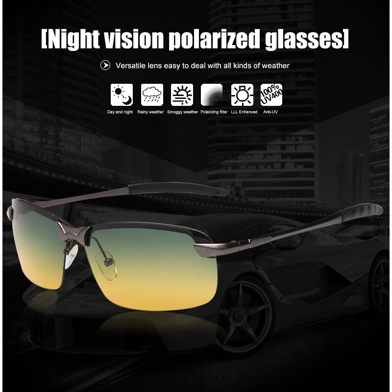 Night Vision Glasses Men Driving Polarized Sunglasses Women With Aluminium Magnesium Alloy Frame Gafas De Sol Mujer Hombre