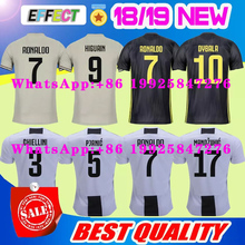 2018 calidad tailandesa RONALDO JUVENTUS fútbol Jersey hombre Jersey de  1819 7   JUVE CR7 9 Higuaín 10 Dybala casa lejos de terc. 497f3d57cfd6d