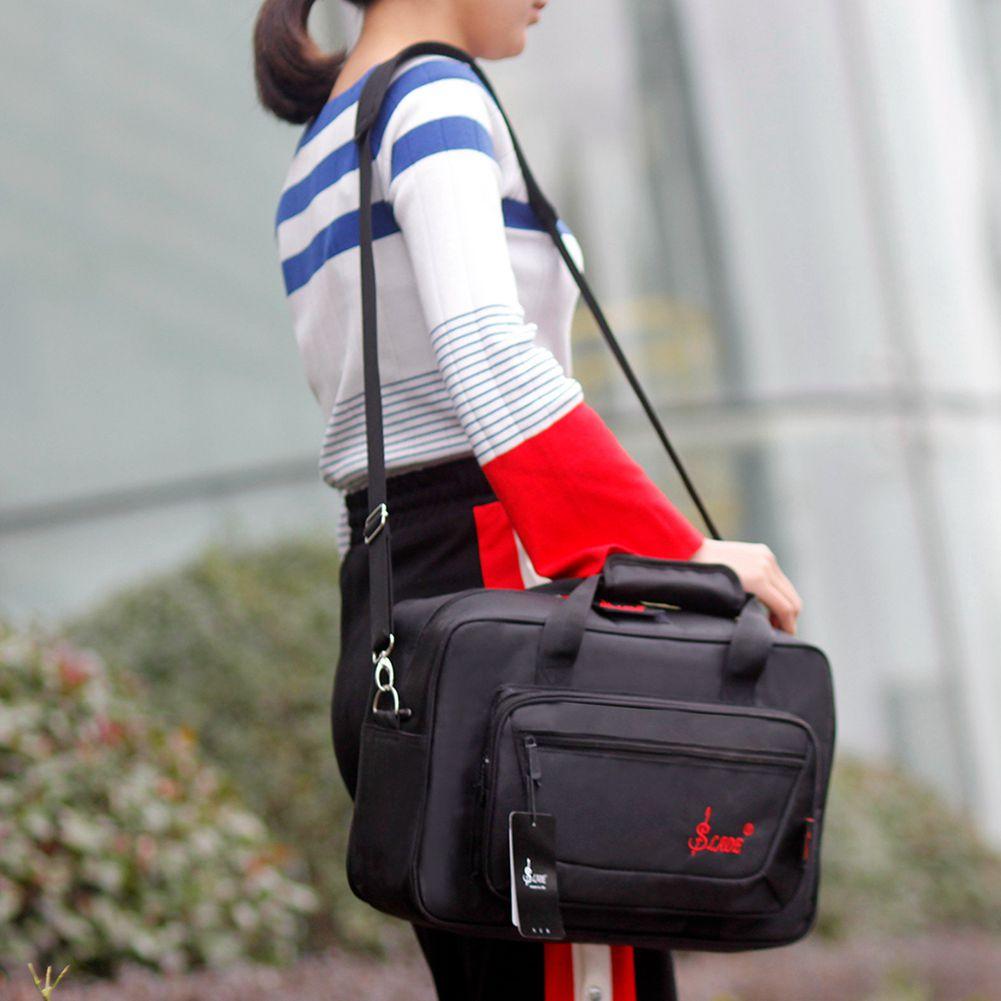 HOT-SLADE Oboe Clarinet Soft Carrying Case Gig Bag Padding with Shoulder Strap