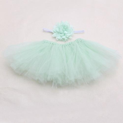 Новинка; Милая юбка-пачка для новорожденных девочек и повязка на голову; костюм для фотосессии; Oct2#330 - Цвет: 1