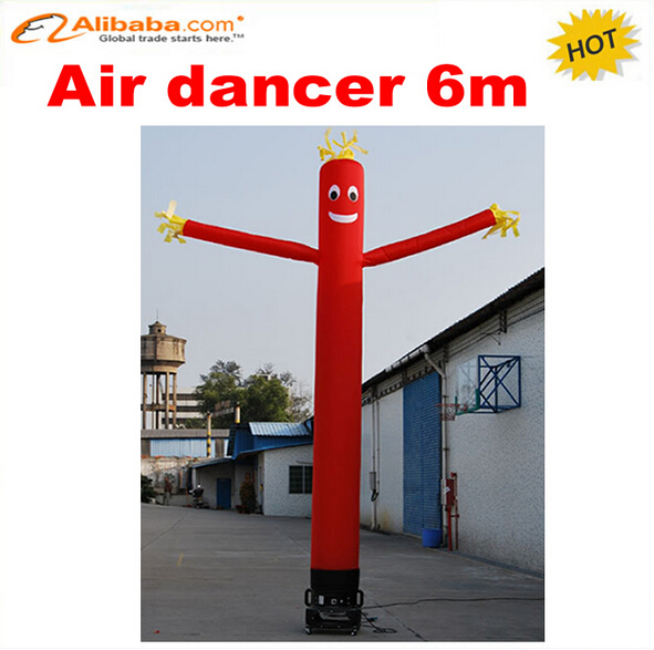 6m one leg inflatable air dancer for advertising,most popular inflatable advertising dancing man 6m 20ft 2 legs inflatable air dancer sky dancer for advertising free shipping 2pcs 950w blower with light