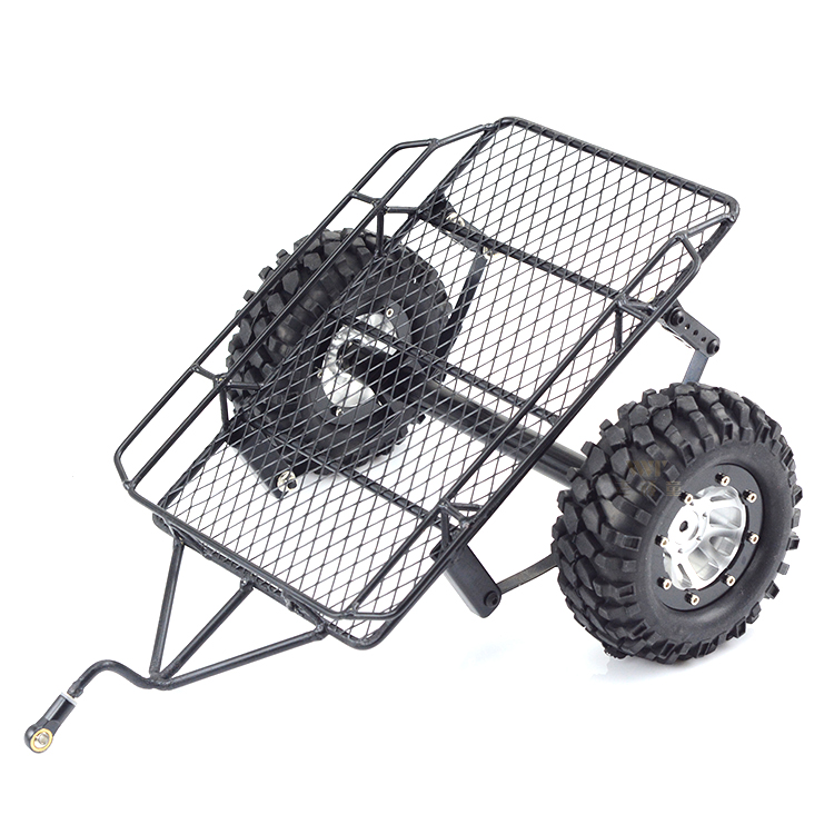 цена The old naughty boy simulation climber 1/10 D90 SCX10 CC01 DIY metal Trailer bucket matches the 1.9 metal wheel 90mm tyre