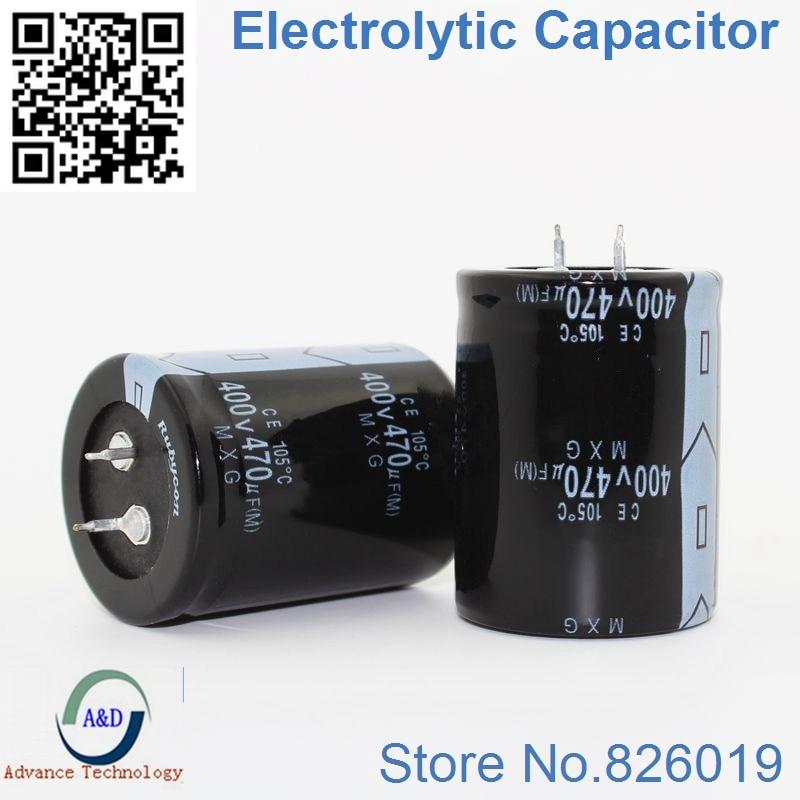 15pcs lot 400V 470UF Radial DIP Aluminum Electrolytic Capacitors size 30 45 mm 470UF 400V Tolerance