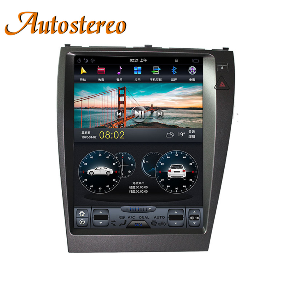 Tesla style Android Car GPS Navigation For Lexus ES ES240 ES350 head unit multimedia radio tape recorder no DVD player 4K stereo-in Car Multimedia Player from Automobiles & Motorcycles    1