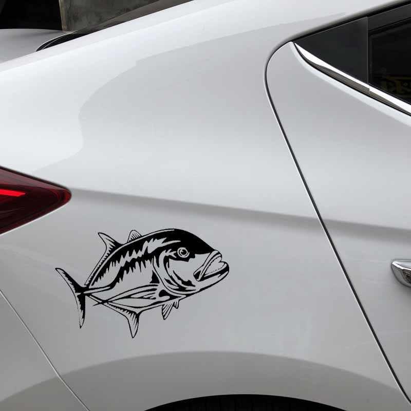 Hawaii Ulua Fisch Vinyl Aufkleber Auto Fensteraufkleber Wähle 6 Farben 4 Größen