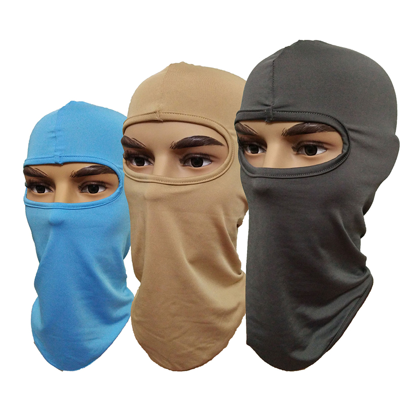Sale 1PC Unisex Women Men CS Solid Full Face Mask Motorcycle Cycling Protecting Wind proof Sunscreen Ski Neck Cap Hat Cover