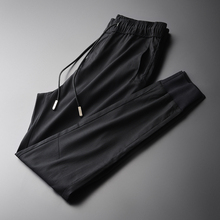 Minglu New Soft Tencel Fabric Mens Ankle length Pants Fashionable And Casual Black Men Pants Mens Trousers Plus Size M 4XL
