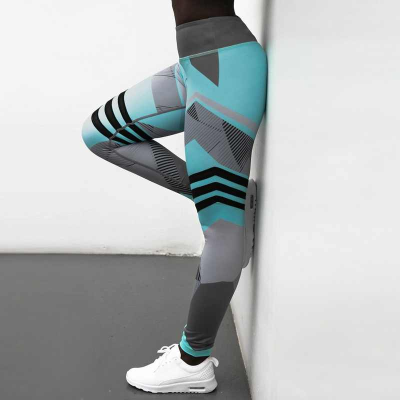 4c93bd481abb42 ... Hot Striped Running Pants Women Push Up Sport Leggings Fitness Athletic  Tights Seamless Gym Trousers Training ...