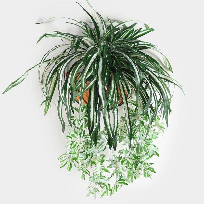 Luyue 65 см искусственные цветы растения настенный хлорофилит в горшке зеленые растения ПВХ имитация цветка Декор для гостиной|Искусственные и сухие цветы|   | АлиЭкспресс