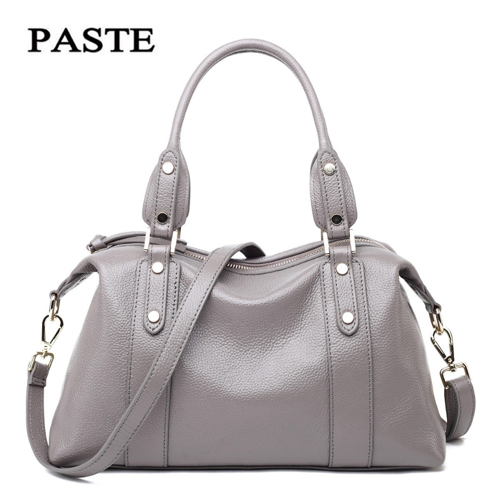 Luxury  Famous brand designer 100% Natural Genuine leather women handbags Fashion Rivet decoration shoulder Crossbody bag chispaulo women genuine leather handbags cowhide patent famous brands designer handbags high quality tote bag bolsa tassel c165